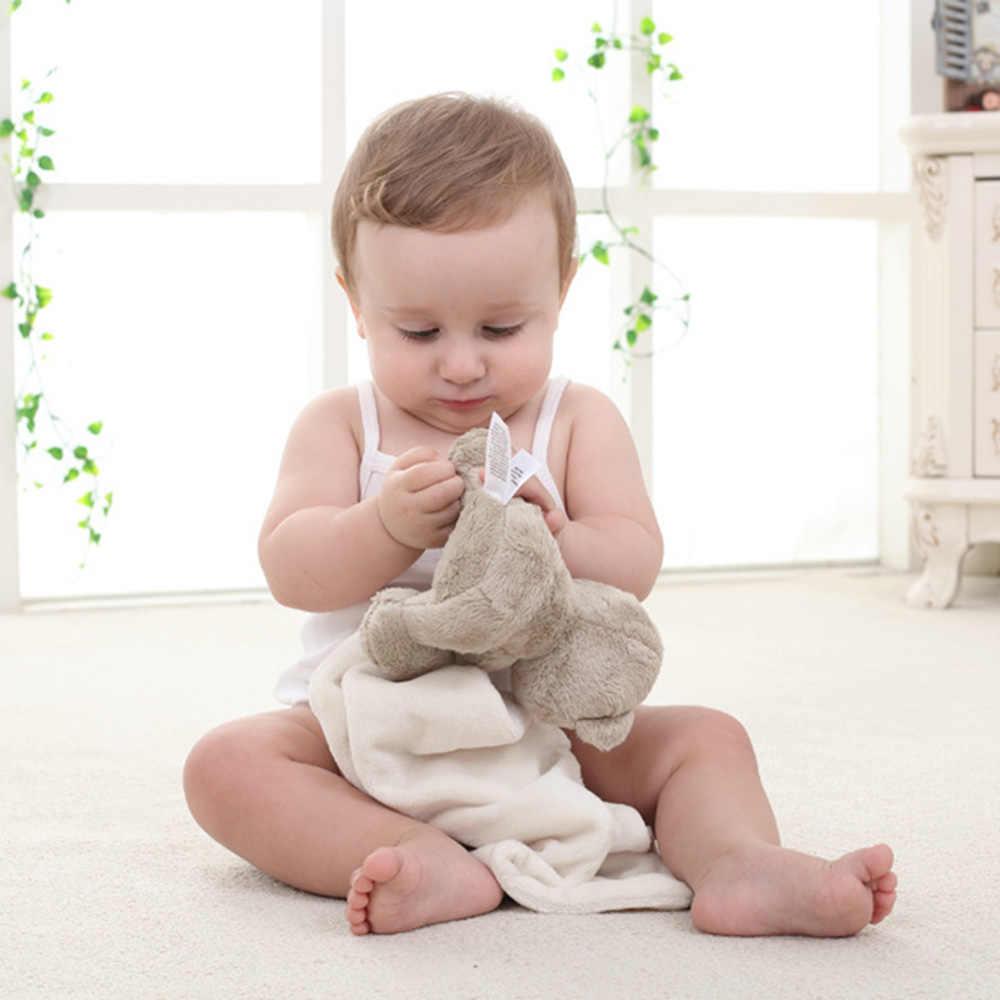 Peluche Bebé Niño Niña Niño Regalo Comodidad de Edredón Manta de lana Toalla de mano