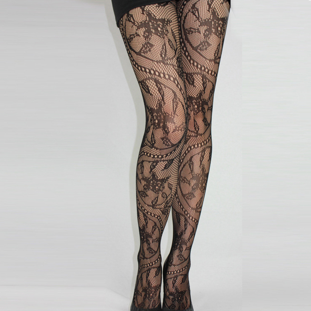 2019 New Women Sexy Hot Lace Jacquard Lingerie Ladies Thigh-Highs Stockings Tights Thin Pantyhose Lace Floral Hosiery 1