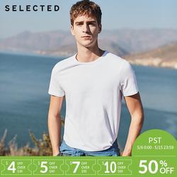 Отборные летние новые хлопковые с круглым вырезом повседневные однотонные мужские футболки с короткими рукавами S | 4182T4547