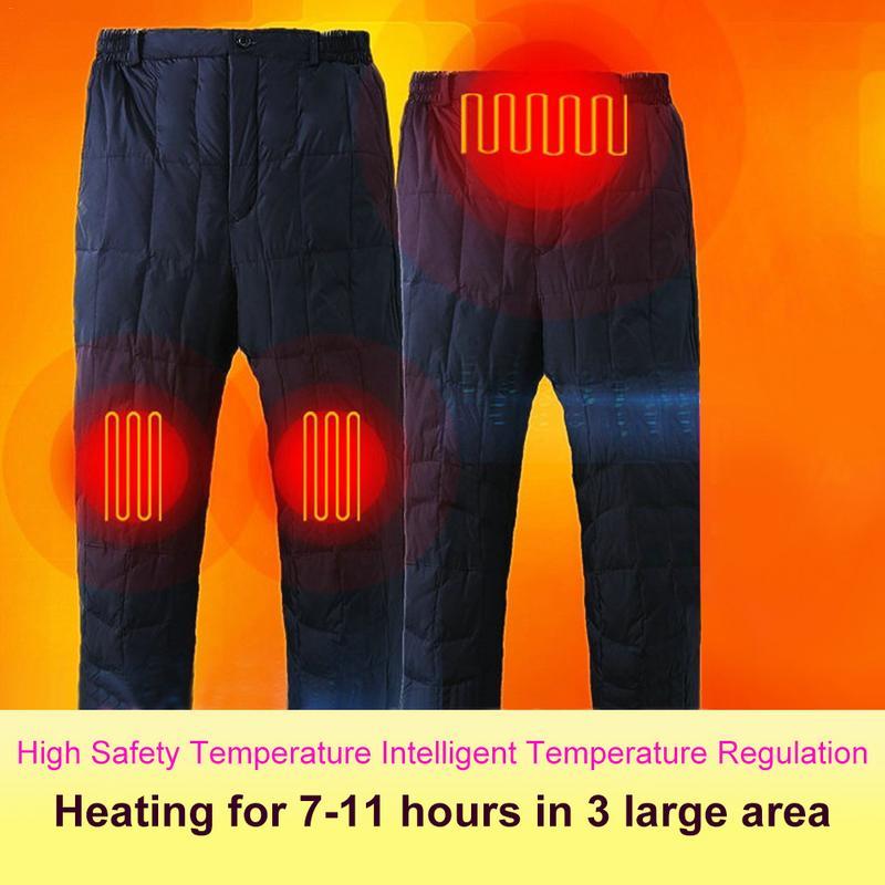 Thermostat extérieur pantalon électrique chaud charge hommes et femmes hiver Thermostat intelligent pantalon de chauffage électrique vêtements chauffants