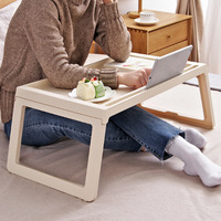 Laptop Table Folding Notebook Desktop Stand With Cooling Fan Bed Laptop Tray Desk Study Desk