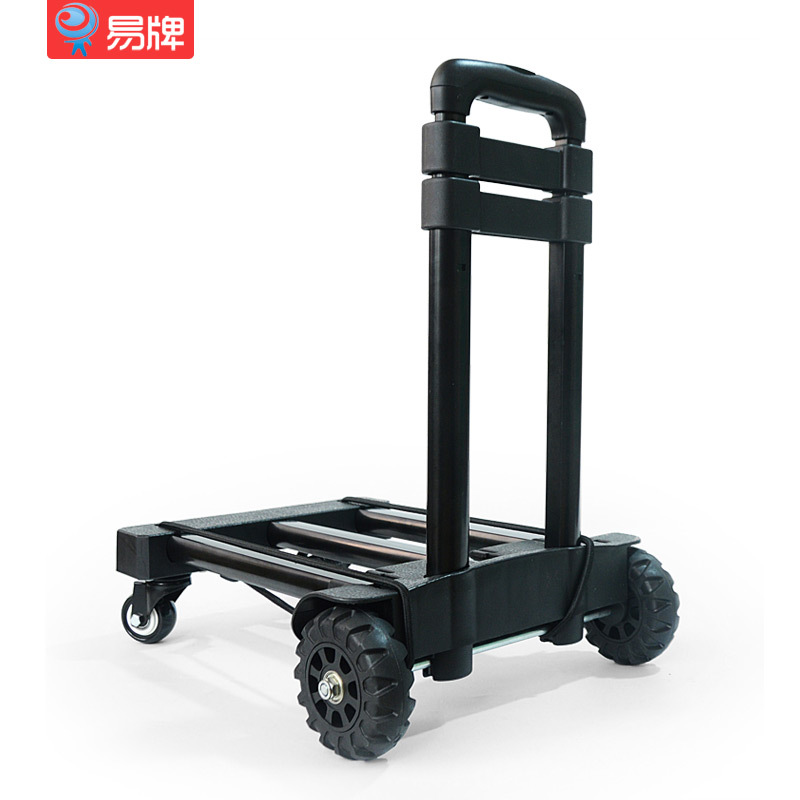 Easy To Card Trolley Caster Design Portable Trolley Car Household Folding Load Moving Luggage Cart