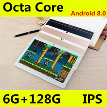 10 pollici tablet pc 1280*800 IPS MT8752 8 Core Android 8.0 Tablet 4GB di RAM 128GB di ROM dual SIM 3G 4GLTE Chiamata di Telefono Tablet 10.1(China)