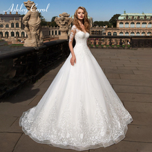 Ashley Carol A-Line Wedding Dress 2019 Embroidery