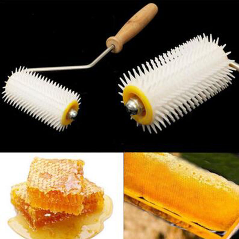 Bee Honey Extracting Uncapping Needle Roller Plastic Beekeeping Comb Tools Kit Home Garden Supplies