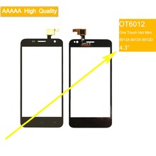 10Pcs/lot For Alcatel One Touch Idol Mini 6012 6012A 6012D 6012X OT6012 Touch Screen Touch Panel Sensor Digitizer Front Glass стоимость