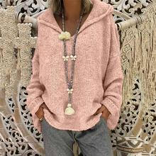 3XL Plus Size Autumn Winter Knitting Casual Long Sleeve Solid Colors Sweater Loose Female Pink Sweaters Fashion Women Clothing