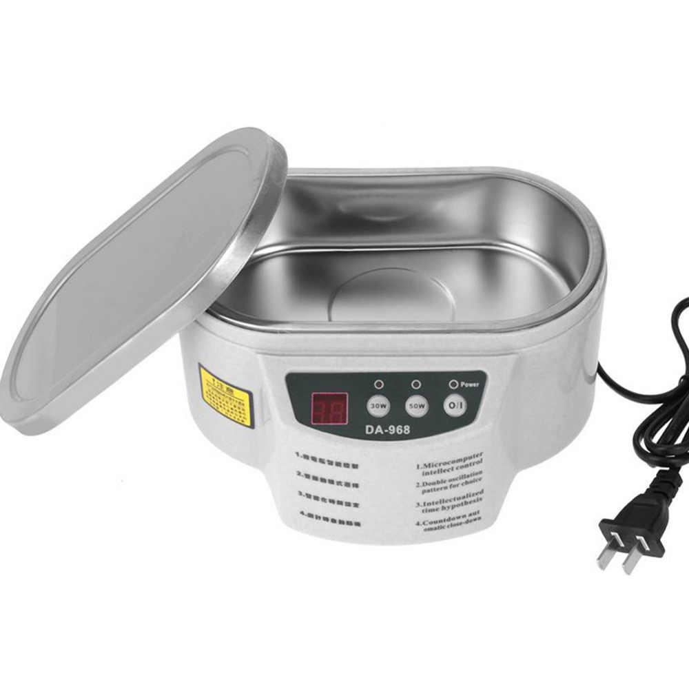 Thông minh Máy Đo AC 220V 50Hz Thép không gỉ Sóng Siêu Âm Rửa Trang Sức Kính Siêu Âm Tắm Máy 600ml