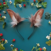 Лолита косплей костюм аксессуары Сексуальное белье кроличьи уши головной убор ободок ручная работа для девушек женщин