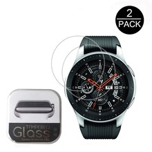 2PACK 0.3mm 2.5D 9H Clear Tempered Glass Screen Protector For Samsung Galaxy Watch 42mm 46mm Smart Watch Film Scratch Resistant