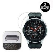 Protector de pantalla de vidrio templado transparente para Samsung Galaxy Watch, paquete de 2, 0,3mm, 2.5D, 9H, 42mm, 46mm, película de reloj inteligente resistente a arañazos