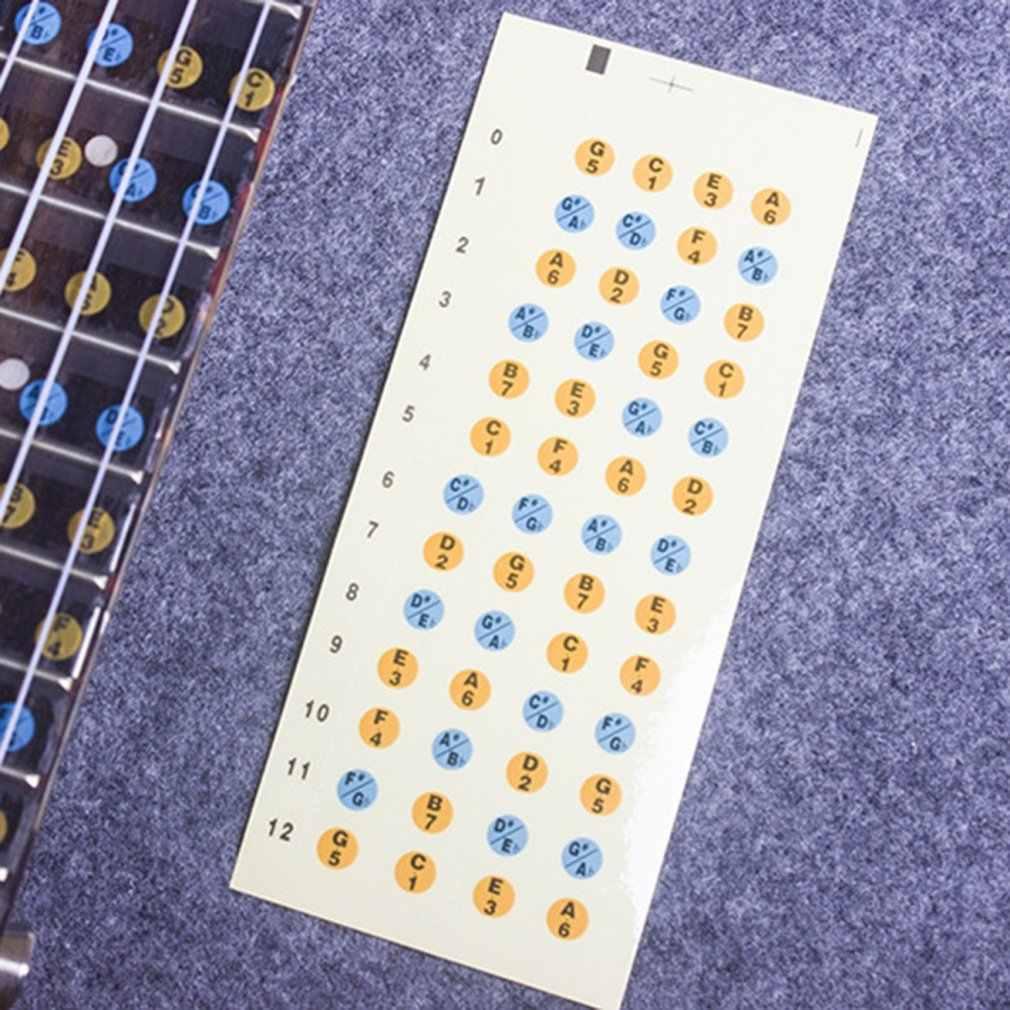 Ukulele בקנה מידה מדבקת פסטר תווית על צוואר Fretboard ללימוד למתחילים גיטרה כלי נגינה אביזרי חלק