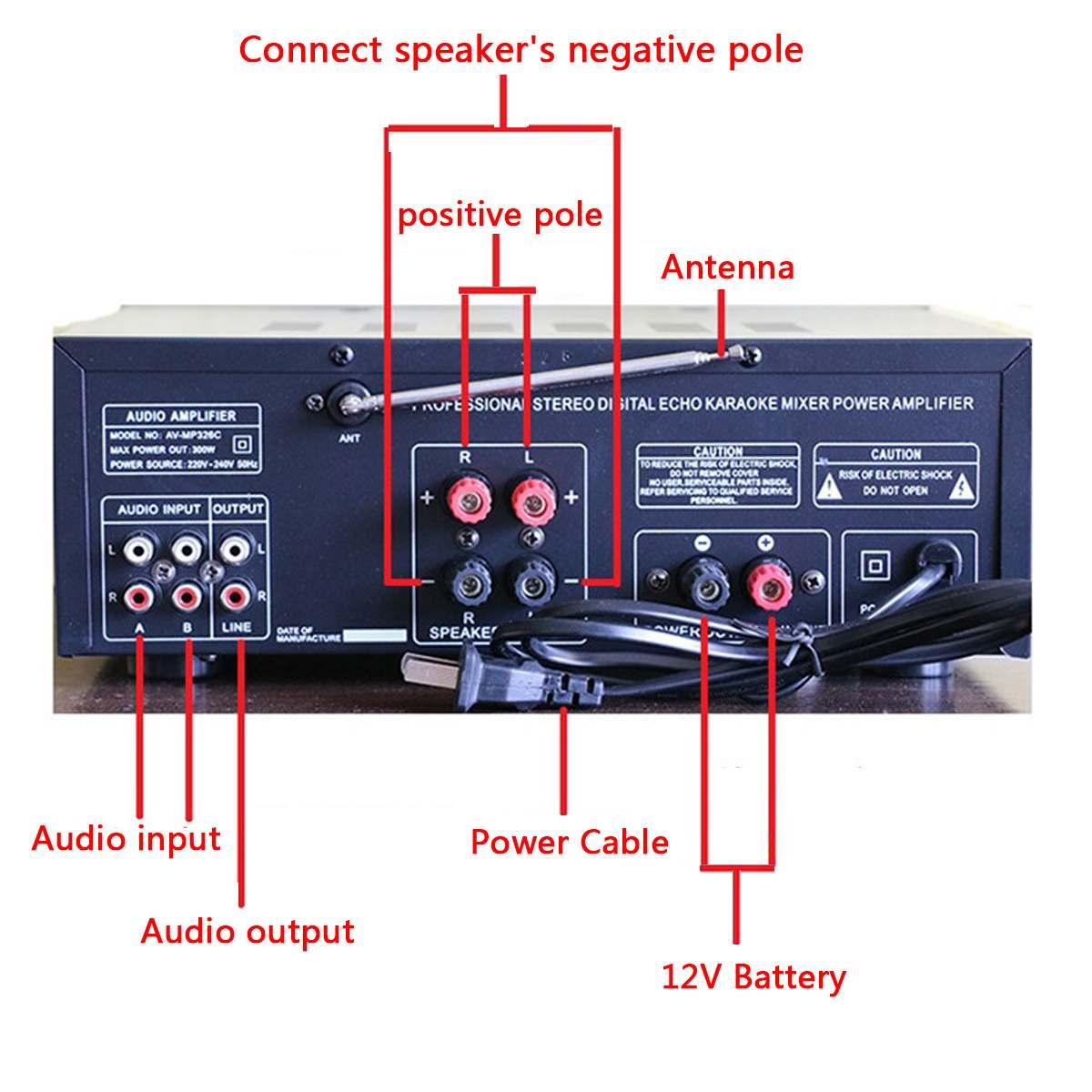 EQ 2000 w 4 ohm 2CH bluetooth Estéreo auriculares bluetooth Digital amplificador de potencia USB 64 GB casa teatro amplificadores - 4