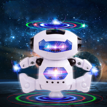 Electronic Robotic Toys With Musical and Colorful Flashing Lights for Kids