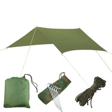 Srebrna powłoka wodoodporna markiza hamakowa namiot baldachim Tarp Beach Camping przenośna Pergola parasolka zewnętrzna