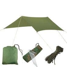 Zilveren Coating Waterproof Hangmat Luifel Luifel Tent Tarp Strand Camping Draagbare Pergola Zonnescherm Outdoor