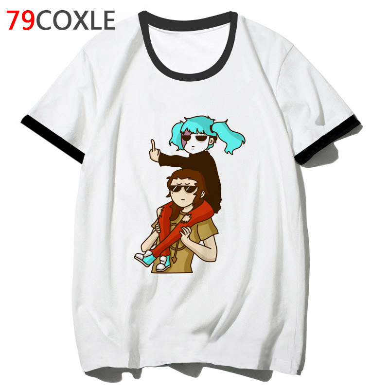 sally face t shirt school hip tee top t-shirt 2019 for streetwear men tshirt funny harajuku clothing male hop F7270 image