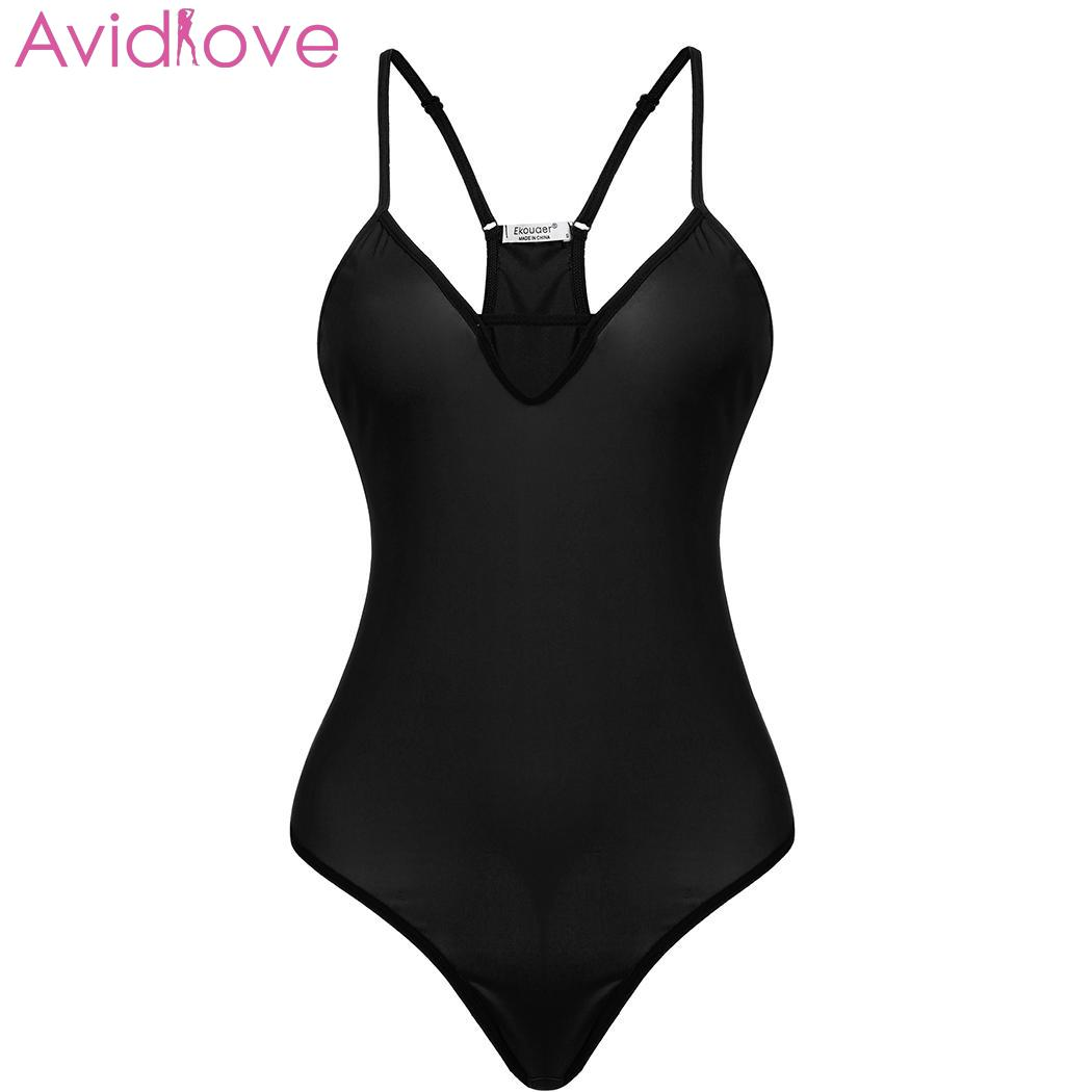 Avidlove Sexy Lingerie Women Plus Size Sex Underwear V Neck Backless Solid One Piece Bodysuit Sleepwear Babydoll For Women|Teddies & Bodysuits| | - AliExpress