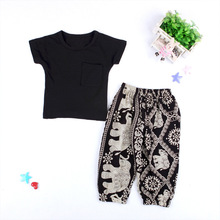 VTOM Baby Kids Girls Fashion Sets Summer Short Sleeve T-shirt Tops+Long Pants  2PCS Outfits Clothes