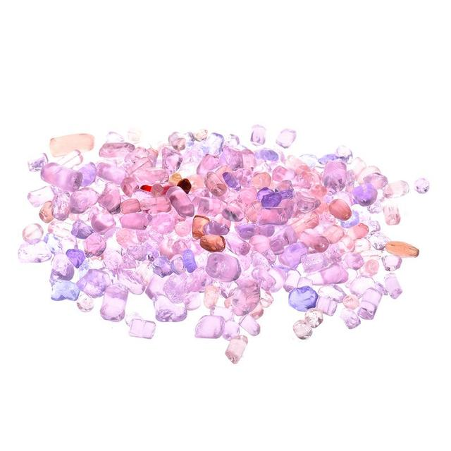 500g Pink Purple Crystal Stone Aquarium Fish Tank Decorative