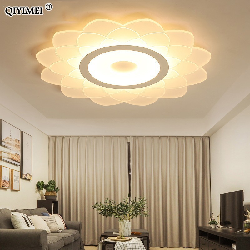 led home lights for living room Modern LED Ceiling Lights With Remote Control Indoor Home Lamps