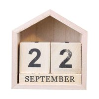 ヴィンテージデザイン家形永久カレンダー木製デスク木製ブロックホームオフィス用品の装飾アートクラフト -