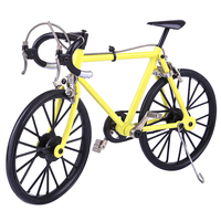 Mini DIY Bicycle Model Simulated Decoration Model Building Kits Educational Toys Decoration For Children Kids Yellow