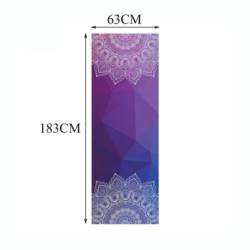 Mandala Print Portable Yoga Mat 5