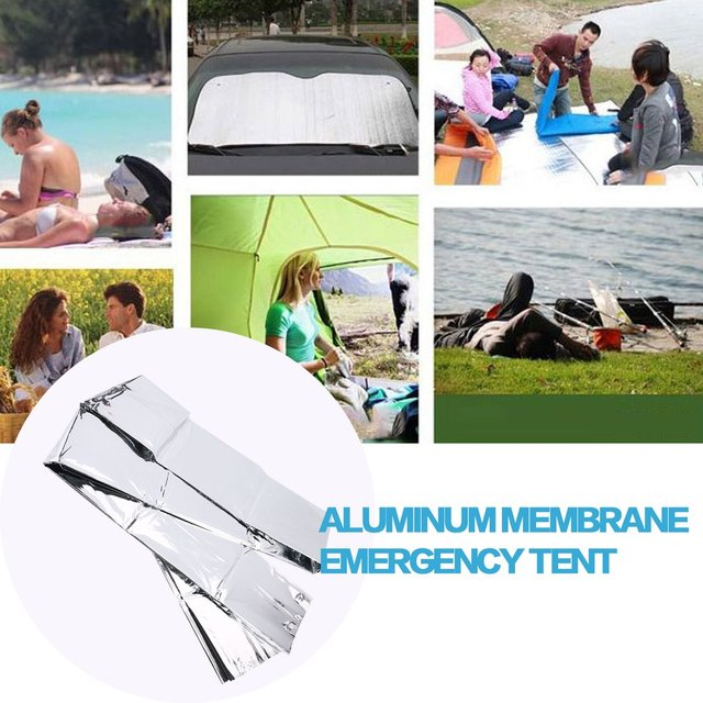Ultralight Tube Tent Emergency Survival Sunscreen Hiking Camping Tents For Shelter Outdoor First Aid