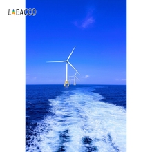Laeacco Outdoor View Windmill Backdrop Baby Portrait Photography Backgrounds Customized Photographic Backdrops For Photo Studio