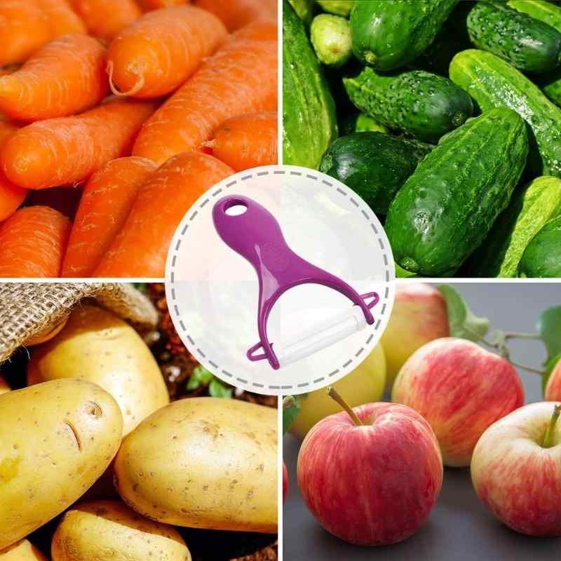 PP Keramische Meloen Fruit Dunschiller Rasp Plantaardige Slicer Cutter Keuken Gereedschap Keramische mes Anti roest slijtvast blijvende sharp