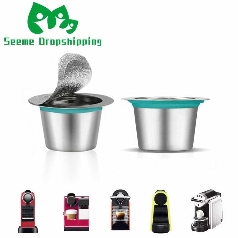 24 шт. Nespresso кофейные капсулы из нержавеющей стали многоразовые капсулы Nesspreso многоразовые кофейные фильтры Чашки Новые DIY Инструменты для приготовления кофе