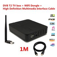 Full HD DVB T2 Terrestrial Digital TV Receiver Full Compatible with DVB T/H.264 MPEG 2 / 4 HD 1080p DVB T2 Receiver Kits Set