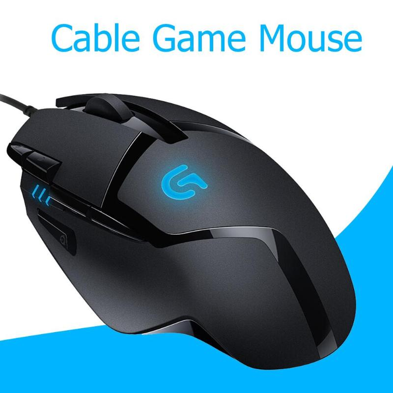Logitech G402 4000 DPI Hyperion Fury FPS Gaming Mouse Games Pressure Gun USB Wired Optical Laser Mouse for Laptop/Computer/PC image