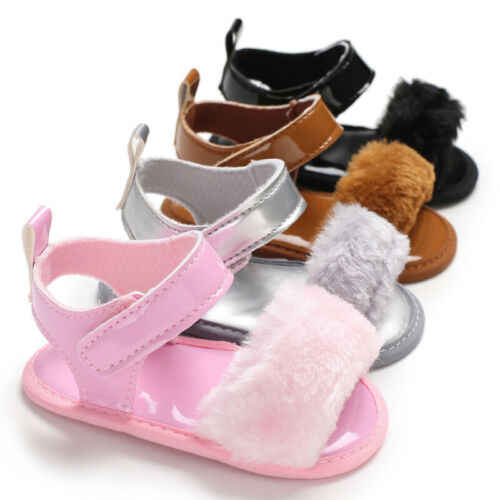 Cute Infant Baby Girl Summer Sandals Shoes Soft Sole Anti-slip Sneakers Flower Sandals Mocassins Prewalkers