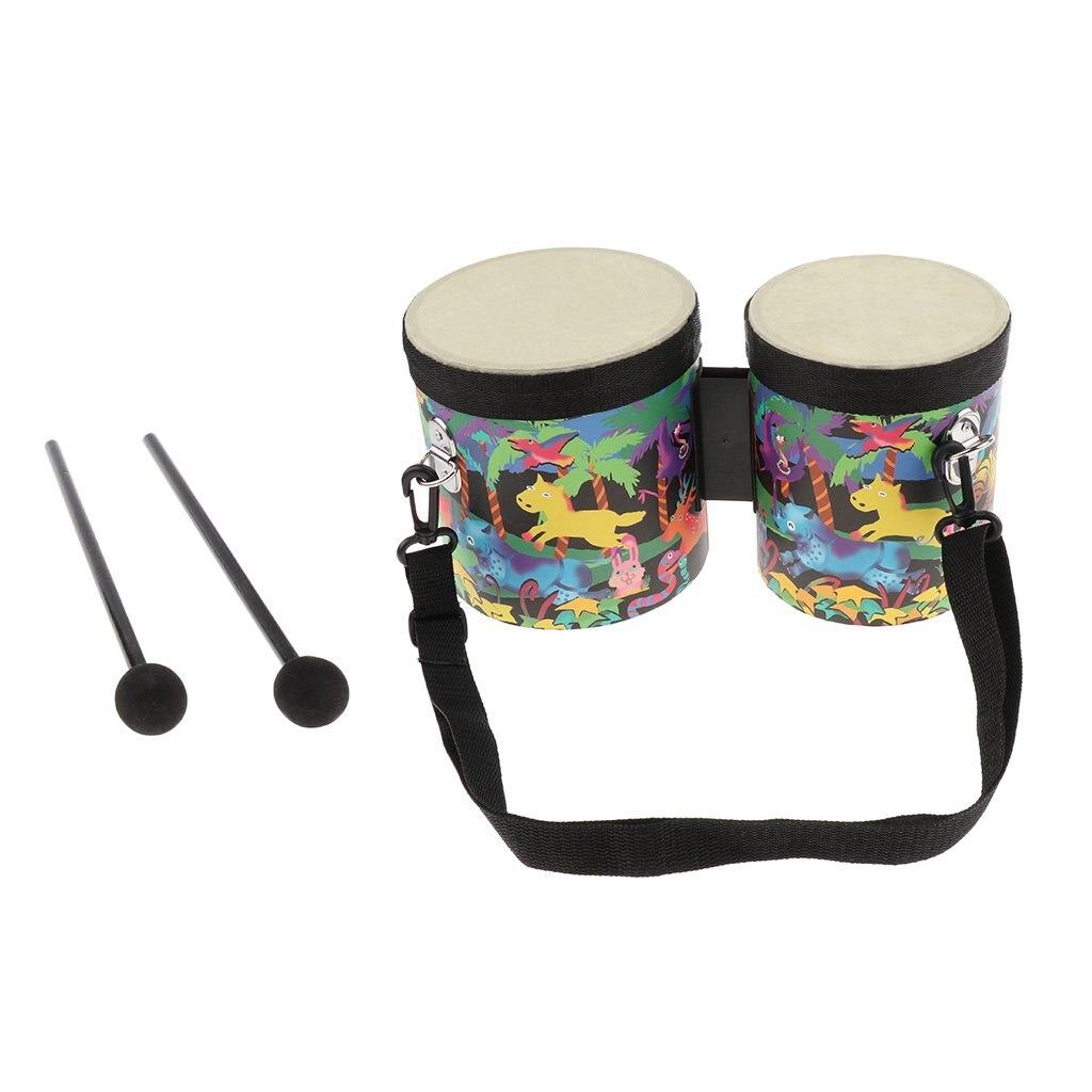 Main en bois Bongo tambour Percussion Instrument de musique apprentissage précoce jouets éducatifs sensoriels pour enfants en bas âge enfants