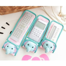 1pc Cartoon Case Cover For Remote Control Fabric Lace Bag Container Holder For TV Air Conditioning Remote Control Case Cover(China)