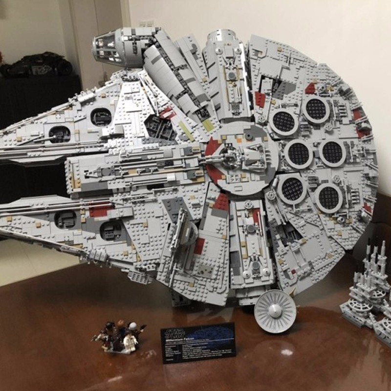8445 pièces Star Wars série bloc ultime Millenaries Falcon phare bloc de construction jouets assemblage orthographe insérer 05132