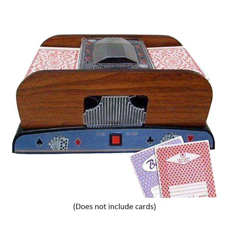 B Poker cartes à jouer en bois électrique automatique jeu de cartes