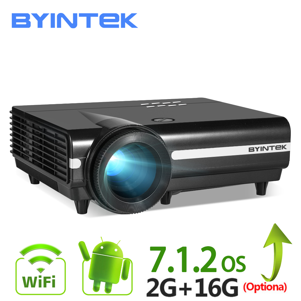 BYINTEK MOND BT96Plus Android Wifi Smart Video LED Projektor Proyector Für Heimkino Full HD 1080 P Unterstützung 4 K online Video
