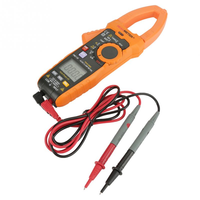 PEAKMETER PM2128 Digital AC DC Clamp Meter Voltage Current Meter Resistance Capacitance Tester discount