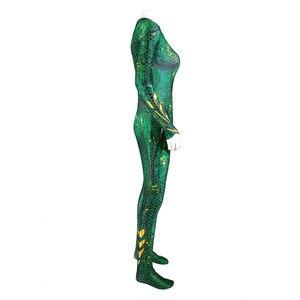 Image 4 - סרט Aquaman Mera צדק ברית ים לאחר Mae לה גיבור מקשה אחת סרבל גרביונים קוספליי תלבושות ליל כל הקדושים חג המולד