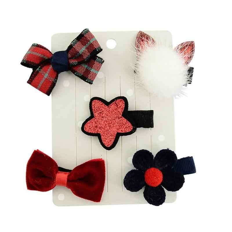 5 шт. кроличьи уши для волос заколка для волос шарик Высокое качество для девочек повязка на голову, комплект заколок для волос Корейская версия, бутик костюм для подвижных игр, аксессуары для волос