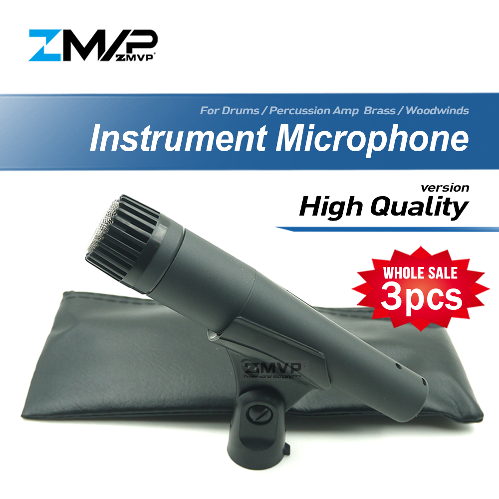 3pcs lot High Quality Version SM57LC Professional Instrument Microphone 57LC Drums Percussion Microfone Brass Woodwinds Mic