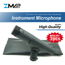 3Pcs Hoge Kwaliteit Professionele SM57LC Dynamische Instrument 57LC Handheld Bedrade Microfoon Voor Prestaties Percussie Live Stage