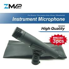 Профессиональный динамический инструмент SM57LC 3 шт., ручной проводной микрофон 57LC для выступлений, ударных сценических трансляций