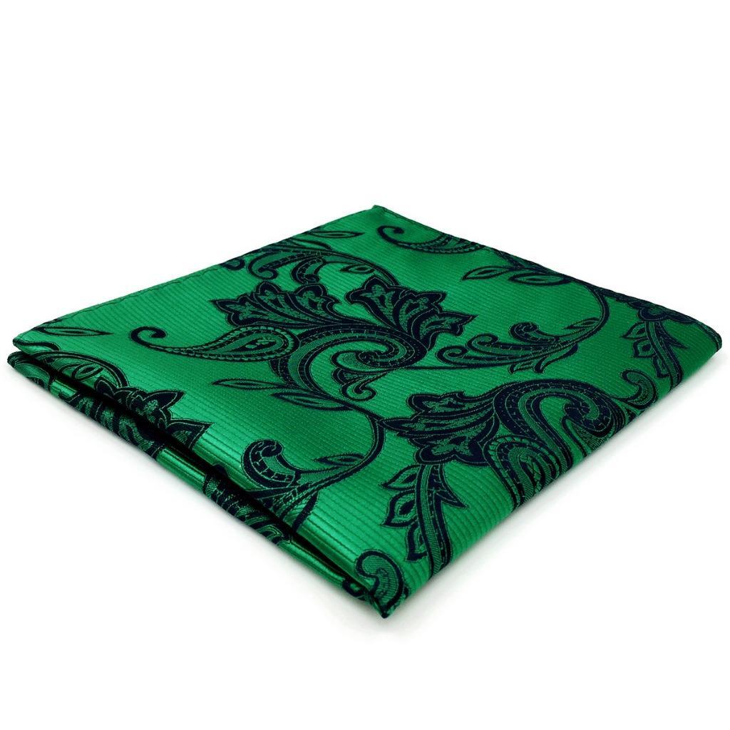 EH05 Green Geometric Mens Pocket Square Wedding Fashion Groom Accessory Hanky 12.6