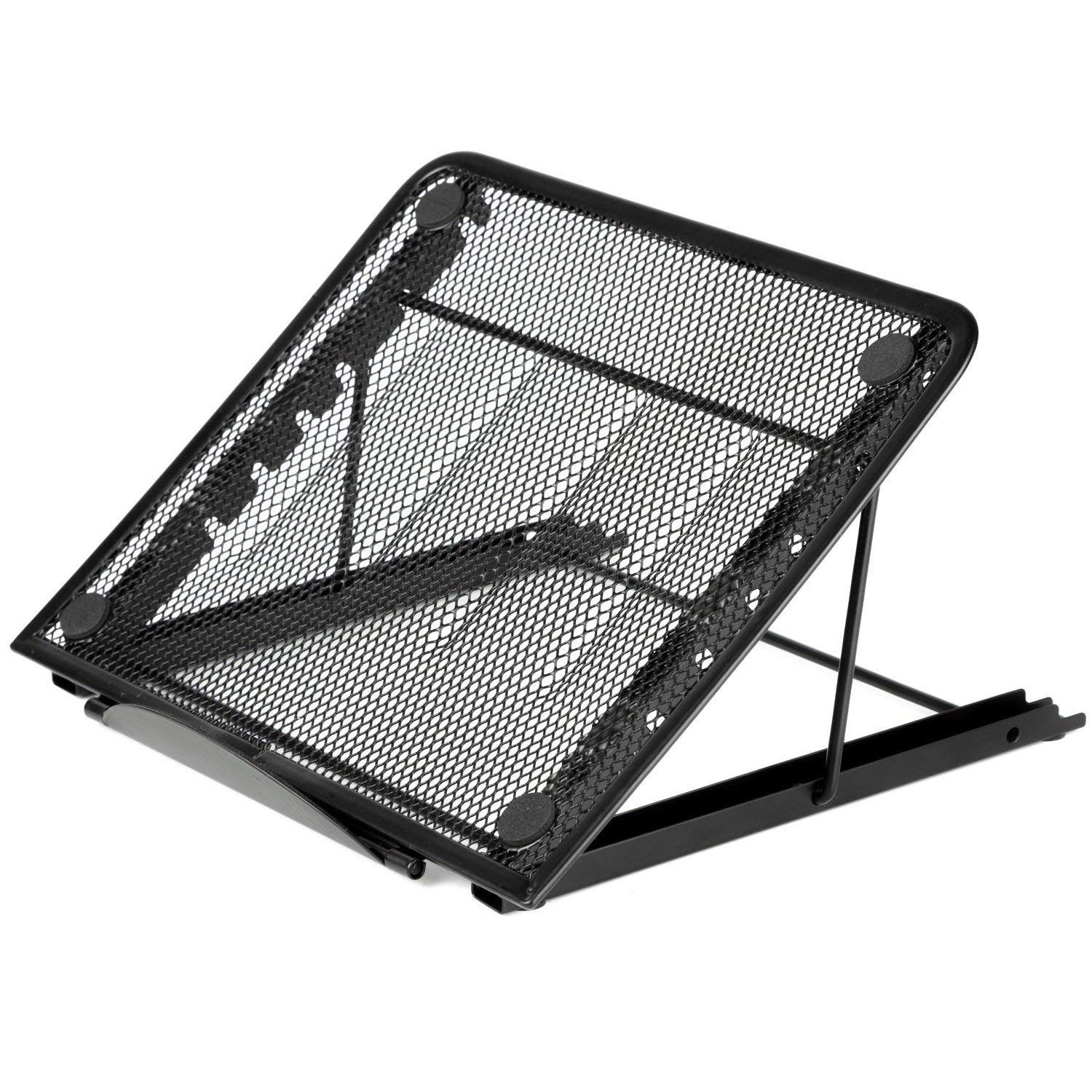 Mesh Ventilated Adjustable Laptop Stand for Laptop/Notebook /Tablet and more (Black) malerba кресло black and more
