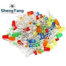 ShengYang 5 цветов X20 шт = 100 шт F5 5 мм круглый желтый белый красный зеленый синий рассеянный круглый диодный светодиодный светильник