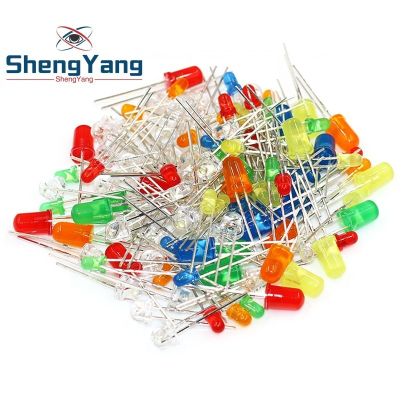 Active Components Diodes 100pcs F3 F5 Dip Led Green Red Yellow Purple Blue Warm White Orange Super Bright 5mm 3mm High Quality Bead Light Emitting Diode Pure Whiteness